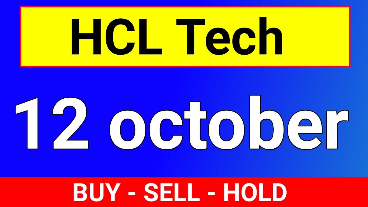 Hcl Tech 12 October Target Hcl Tech Share Hcl Tech Share News Hcl Tech Stock Analysis Youtube