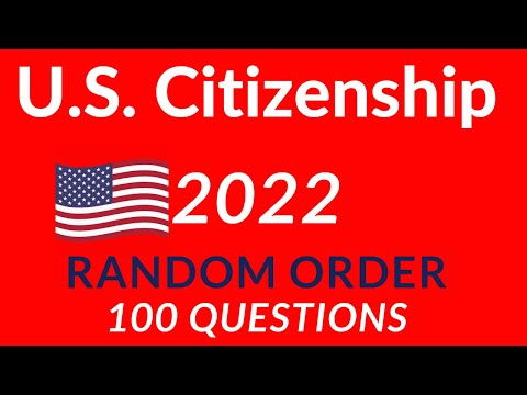 2020 USCIS Civics Test 100 Questions  Materials U.S. Citizenship Test Random Ord