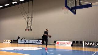 Clint Chapman Dunking After Practice
