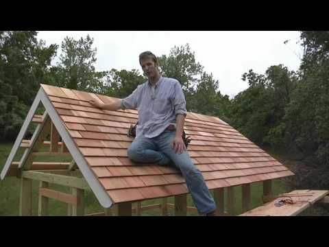 How To Install Cedar Shingle Siding And Polycarbonate Roof