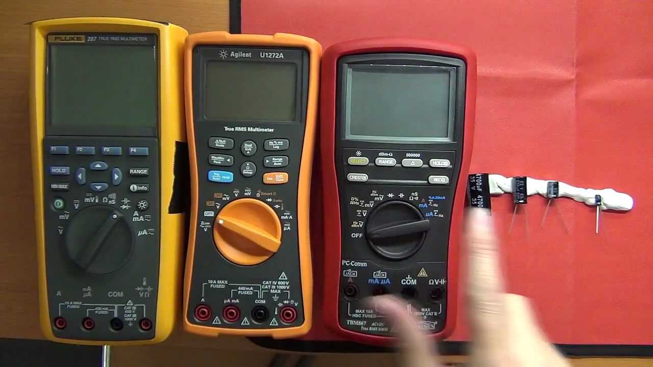 Fluke Esr Meter : Fluke vs agilent u a brymen bm capacitance