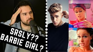 Vocal Coach Reacts - Justin Bieber Singing BARBIE GIRL???