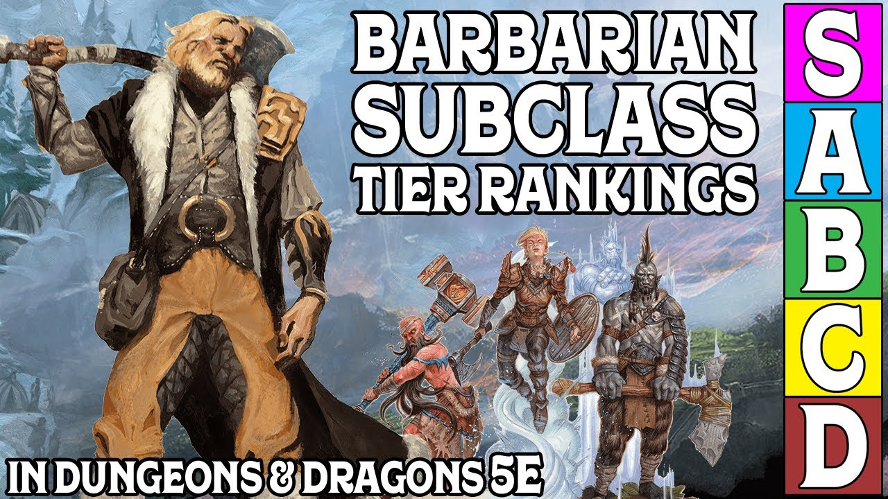 Barbarian Subclass Tier Rankings in Dungeons & Dragons 5e