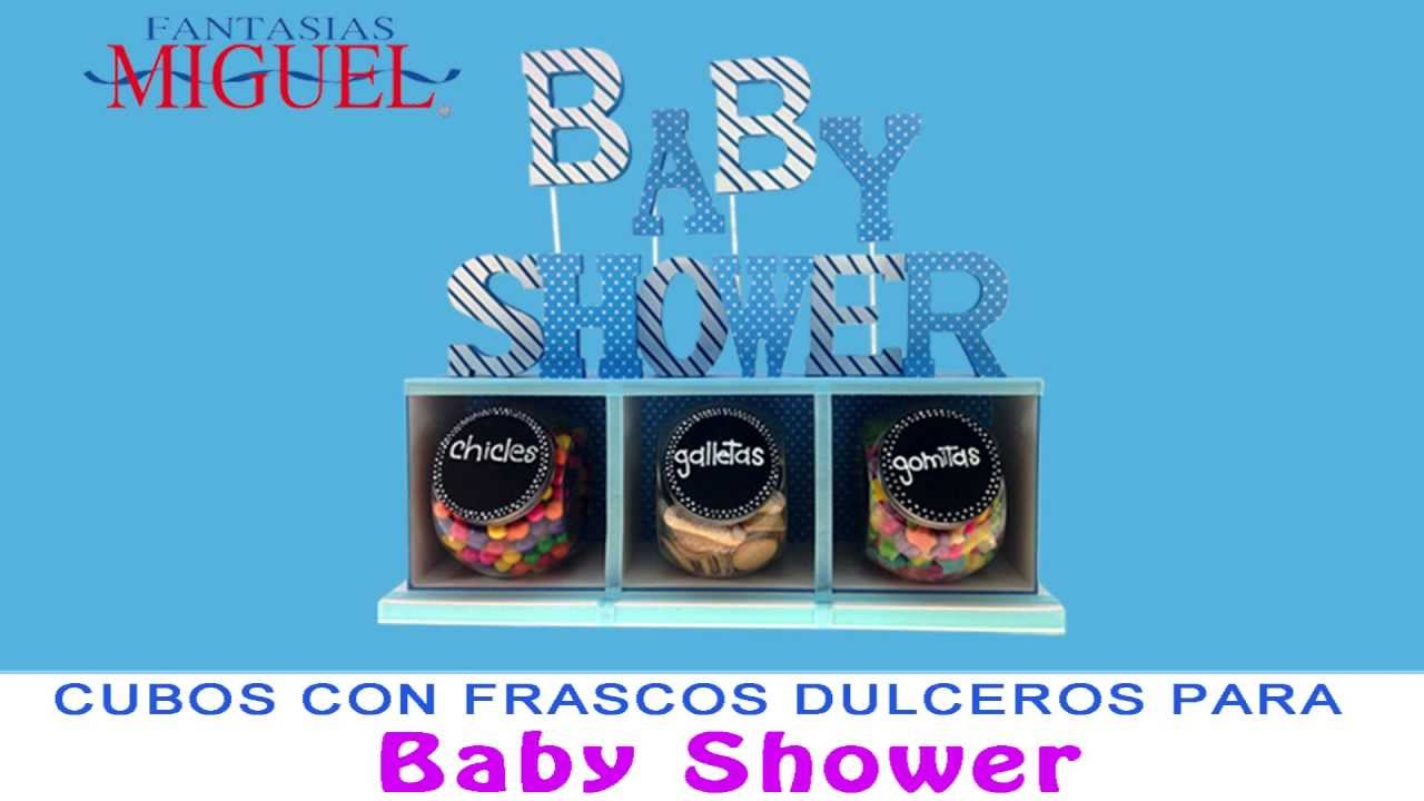 Cubos Con Frascos Dulceros Para Baby Shower Youtube