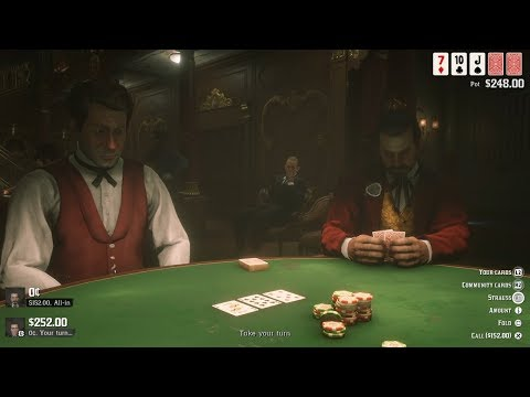 Cheating At Poker | RED DEAD REDEMPTION 2 Gameplay (PS4)