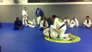 Carlos Machado teaching guard pass