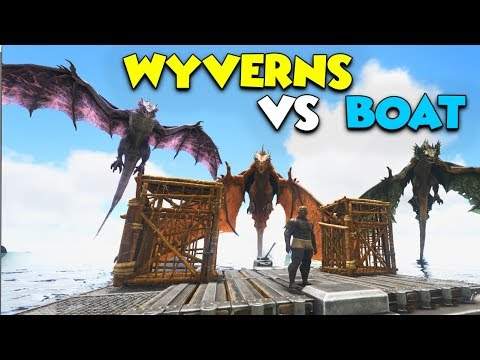 WYVERN ARMY vs PRISON BOAT  - ( Ragnarok ) ARK Duo Survival