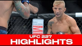 UFC 227 Highlights! Dillashaw Stops Garbrandt (Again), Cejudo Splits Johnson