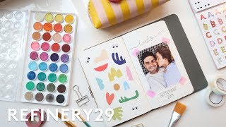 Wedding Bullet Journal - Plan With Me | Lucie Fink Vlogs | Refinery29