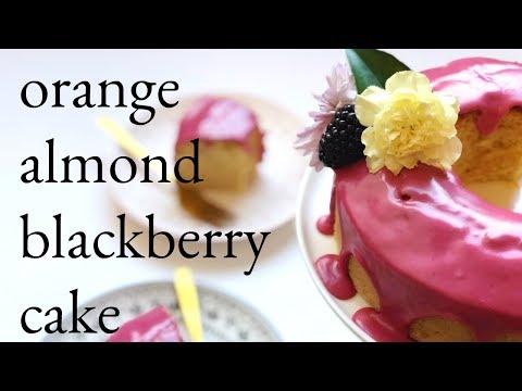 orange-almond-cake-with-blackberry-icing
