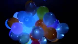 Запуск светящихся шаров на Свадьбе  от globos-ballons.ru