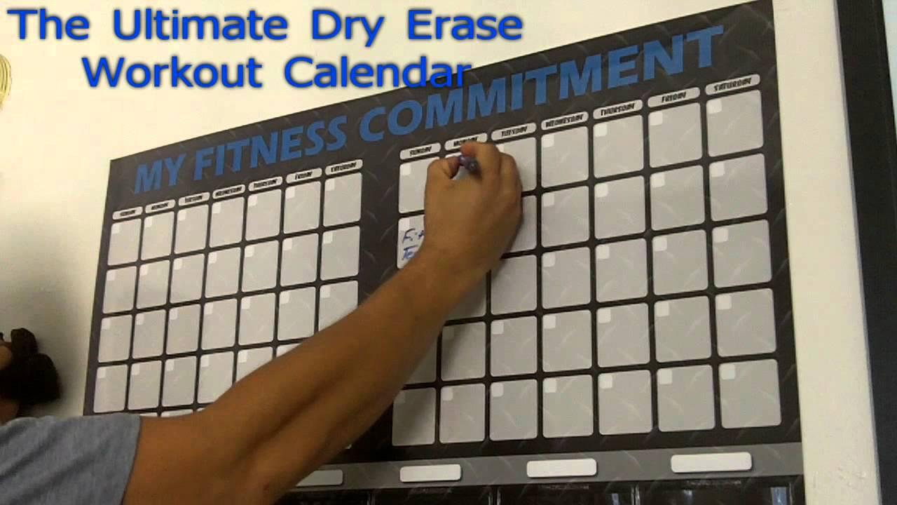Diy Exercise Calendar : Workout calendar dry erase with dvd holders youtube