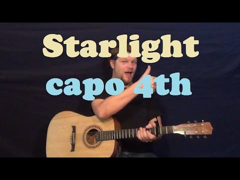 Starlight (Muse) Easy Guitar Lesson How to Play Strum Chords Licks ...
