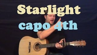 Starlight (Muse) Easy Guitar Lesson How to Play Strum Chords Licks How to Play Tutorial - Capo 4th