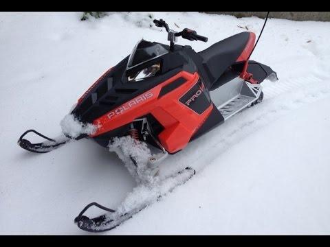 RC Snowmobile Brushless Convertion Run & Jump - YouTube