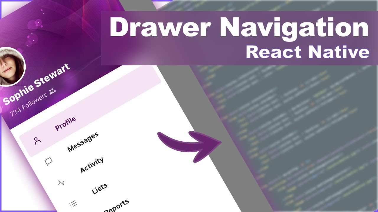 Slide In Drawer Navigation in React Native