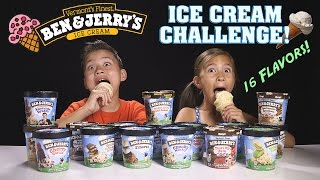 ICE CREAM CHALLENGE!!! Ben & Jerry