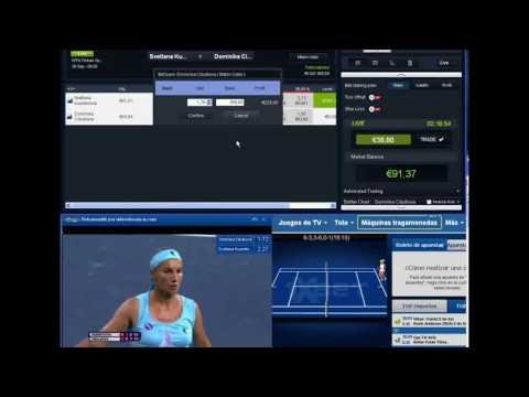 Record €700 + PROFIT Trading Betfair Tennis Kuznetsova S.Cibulkova D ..Macht