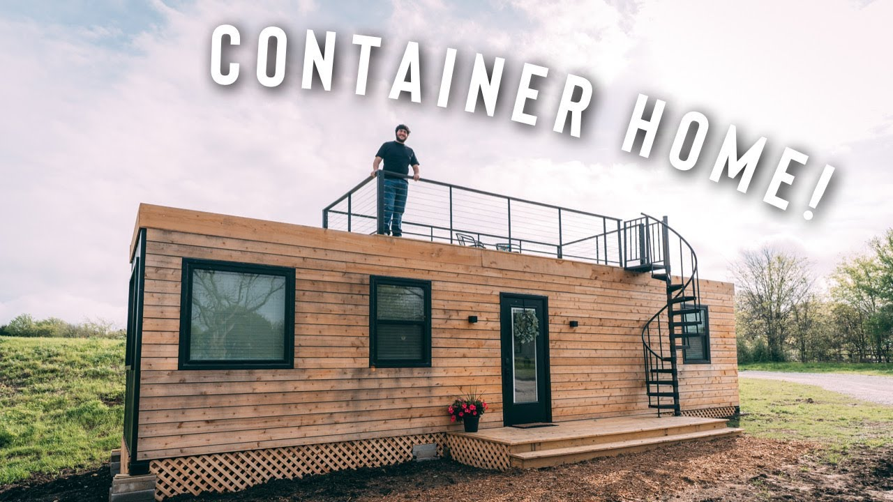 perfect shipping container home w roof patio airbnb full tour