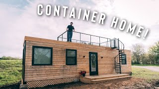 Perfect Shipping Container Home W/ Roof Patio! | Airbnb Full Tour!