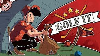 A MINEFIELD of DEPRESSION!   The Sad Golf Troll (Golf It w/ The Derp Crew - Custom Maps)
