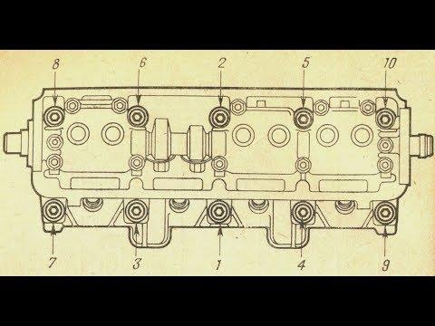 Протяжка ГБЦ (Головка Блока Цилиндров) на ВАЗ 2109, 2114, 2110 8 клапанов. МОМЕНТ Затяжки болтов ГБЦ