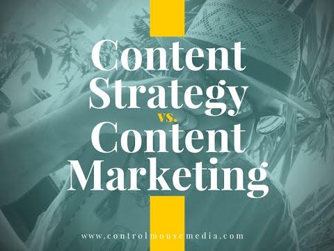 ContentStrategy vs ContentMarketing