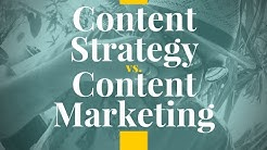 Content Strategy vs Content Marketing