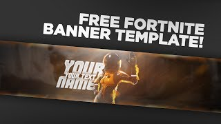 FREE Fortnite banner template! + SPEEDART