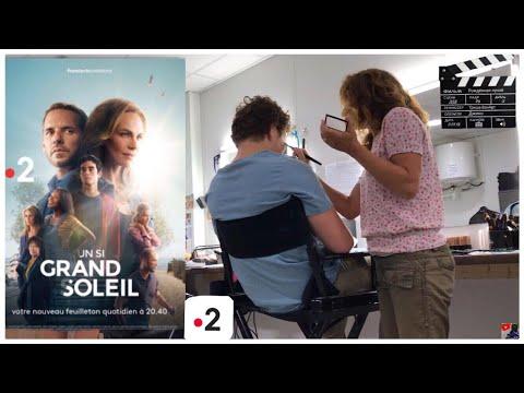 COULISSE DU TOURNAGE D'UN SI GRAND SOLEIL ! ☀️ ( Vlog)