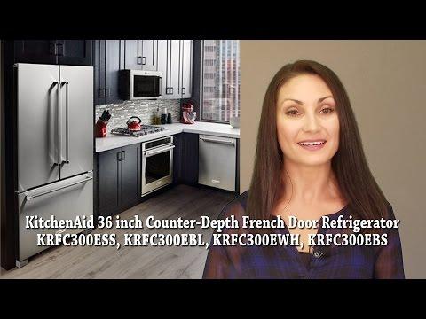 kitchenaid 36 inch counter depth french door krfc300ess