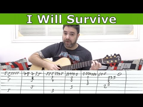 Fingerstyle Tutorial: I Will Survive -- Guitar Lesson w/ TAB  |  LickNRiff