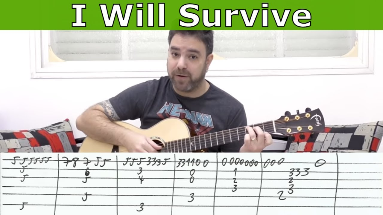 Fingerstyle Tutorial I Will Survive Guitar Lesson W Tab Licknriff Youtube