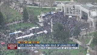 Denver ponders 1 day of public pot use at 420 rally