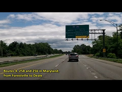 Routes 4, 258 and 256 in Maryland - from Forestville to Deale; from the Beltway to the Bay