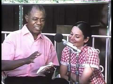 Louis Armstrong learning french
