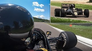 OnBoard an ex-Senna Lotus 97T F1 car at Imola Circuit: Warm Up, Demo Laps & Sound!