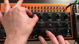Behringer CRAVE Sequencer: Building patterns, Transposing, Jamming