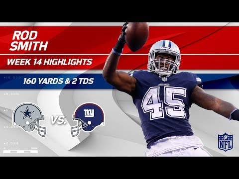 Rod Smith Breaks Off 2 TDs & 160 Yards vs. NY! | Cowboys vs. Giants | Wk 14 Player Highlights