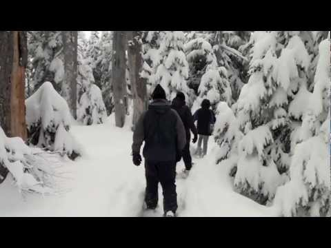 Snowshoeing at Hurricane Ridge in Olympic National Park, January 2012