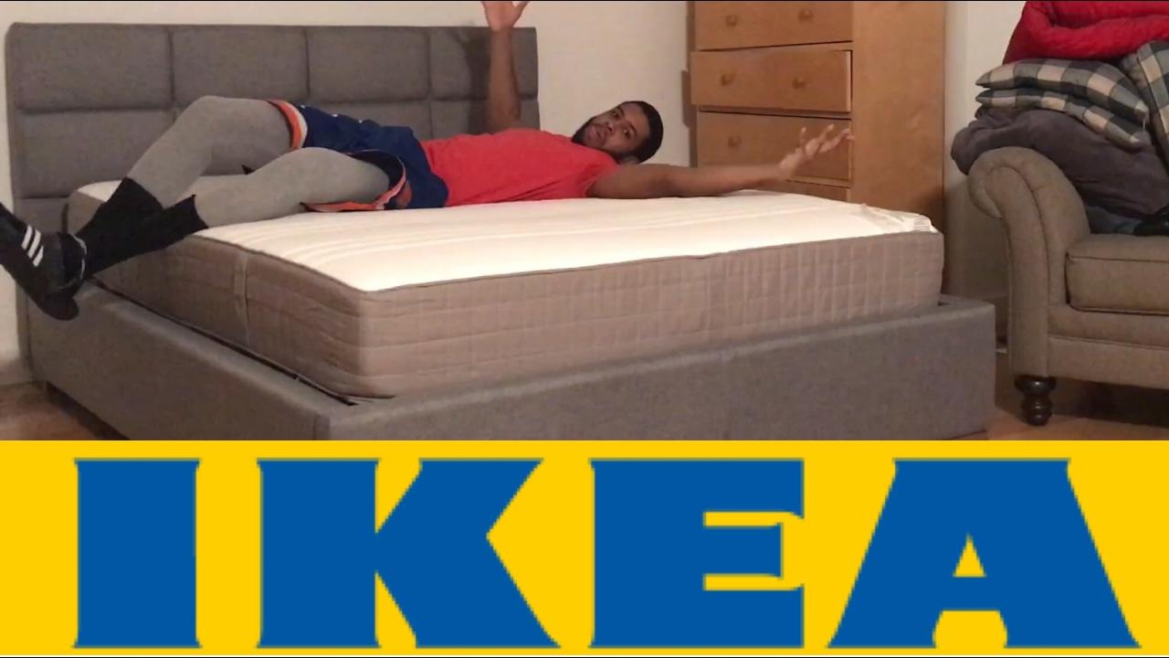 ikea haugesund medium firm spring queen mattress bed. Black Bedroom Furniture Sets. Home Design Ideas