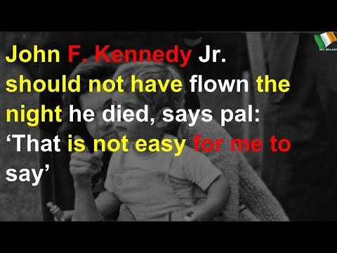 JFK Jr. should not have flown the night he died, says pal