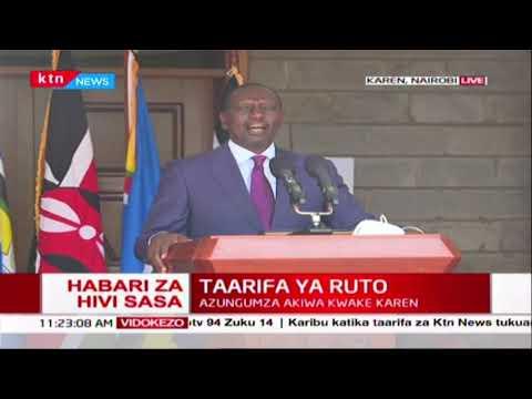DP Ruto's full speech on controlling spread of coronavirus in Kenya