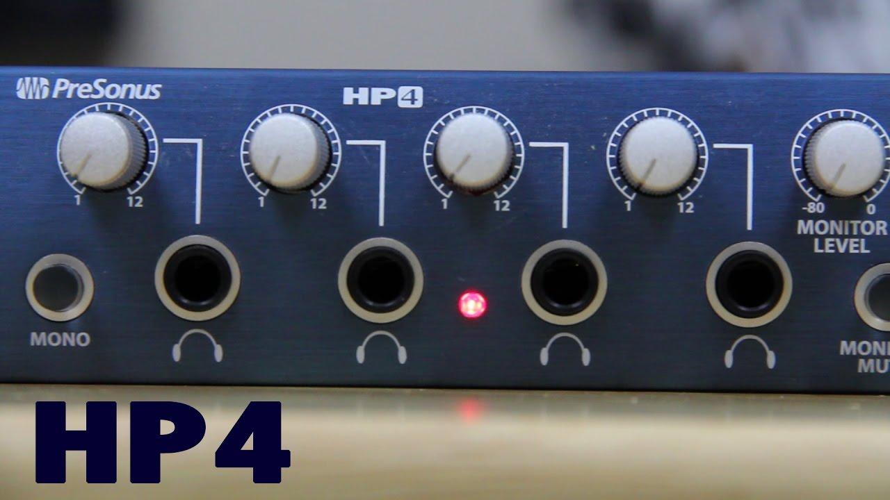 a061448a6ff Presonus HP4 Headphone Amp Review - YouTube