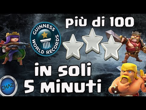 Clash Of Clans - NEW  WORLD RECORD?_ 105 STARS IN 5 MINUTES
