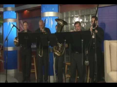 The Riverland Hills Brass Quintet plays Joy to the World