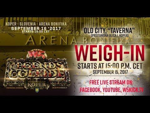 "W5 ""Legends Collide"" - Weigh-In (Slovenia, Koper)"