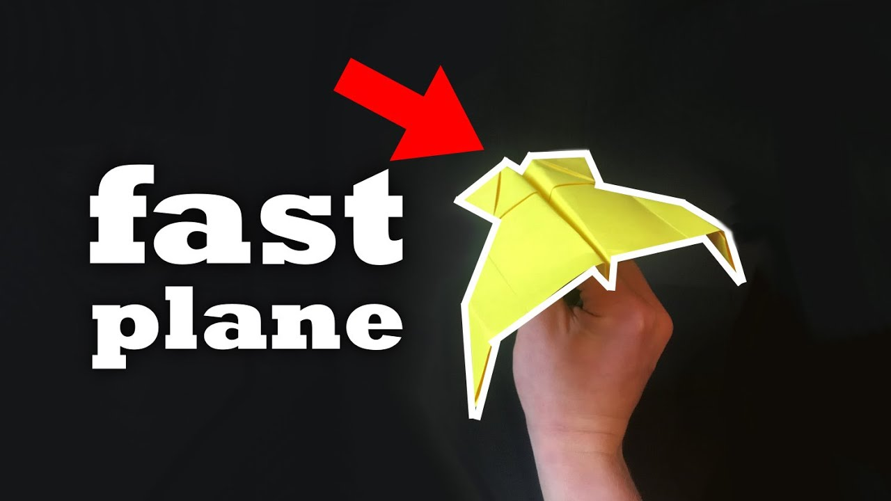 How to make a Paper Airplane (flies far!!)   EASY tutorial