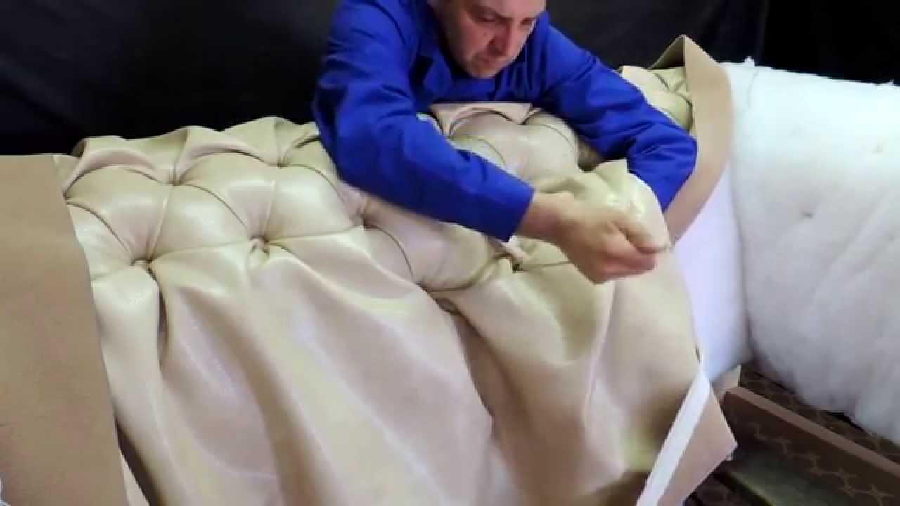 Обшиваем диван своими руками видео