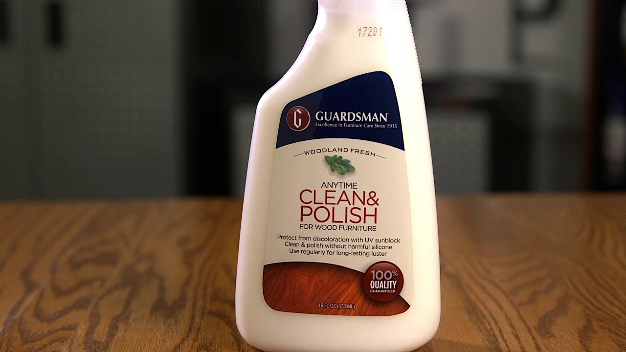 Guardsman Clean Polish For Wood Youtube